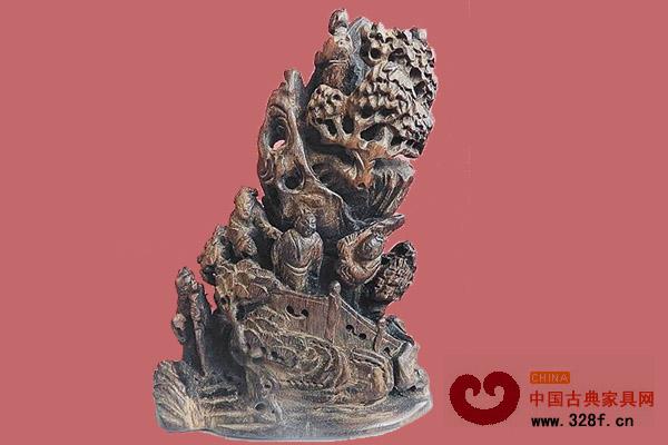 藏家收藏的晚清木雕摆件赏析-新会古典家具网